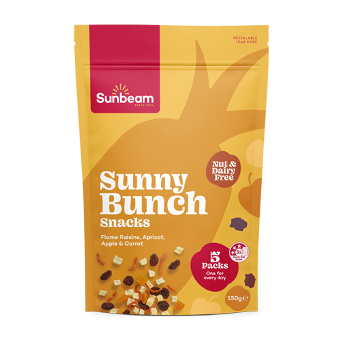 Sunny Bunch Snacks with Carrot, Flame Raisins, Apricot & Apple
