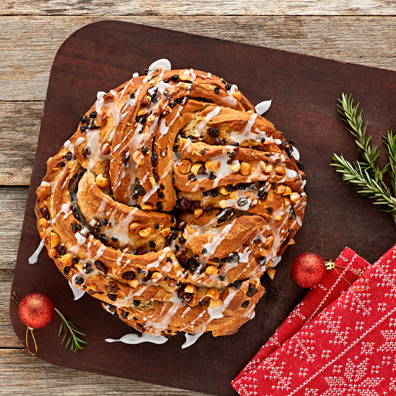 Twisted Christmas Bread Wreath